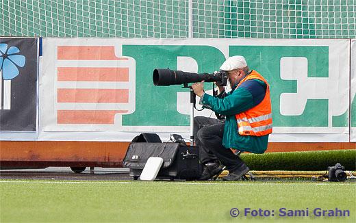 Fotograf K-G Fougstedt i arbete