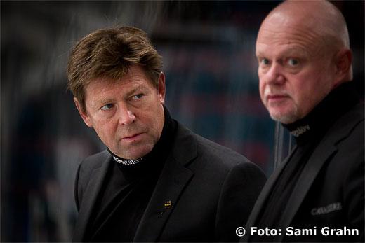 AIK tränare Gunnar Persson och Roger Melin