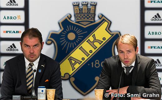 GAIS tränare Alexander Axén och AIK chefstränare Andreas Alm efter matchen