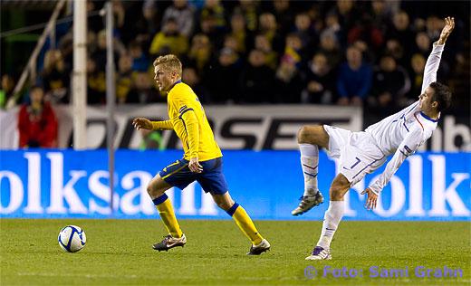 Sverige 7 Sebastian Larsson och Holland 7 Robin van Persie
