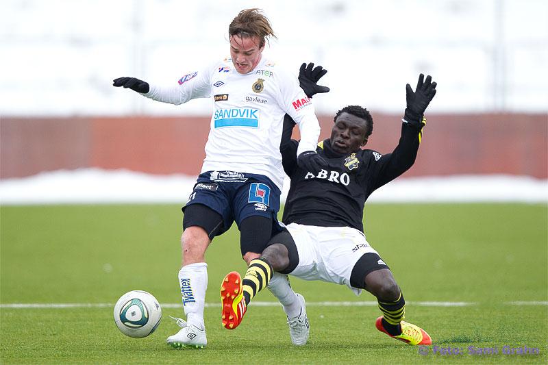 Gefle 21 Eric Larsson och AIK 11 Lalawele Atakora