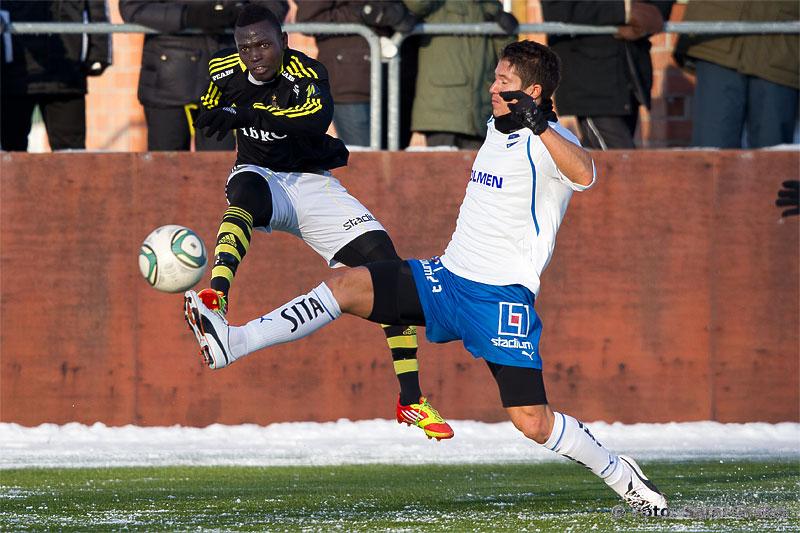"AIK 19 Alhassan A. ""Crespo"" Kamara och Norrköping 23 David Wiklander"