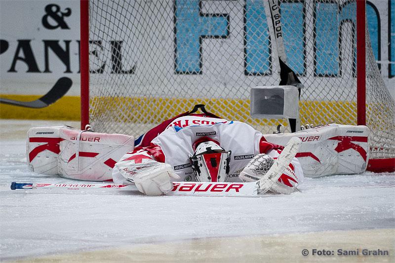 Timrå målvakt 84 Joakim Lundström släppte in åtta mål