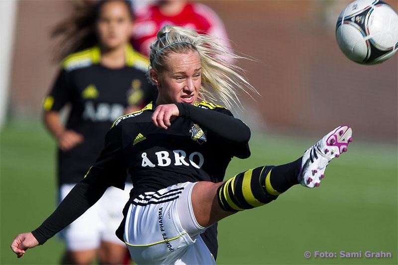 Fint tillslag av AIK 6 Sarah Fredriksson