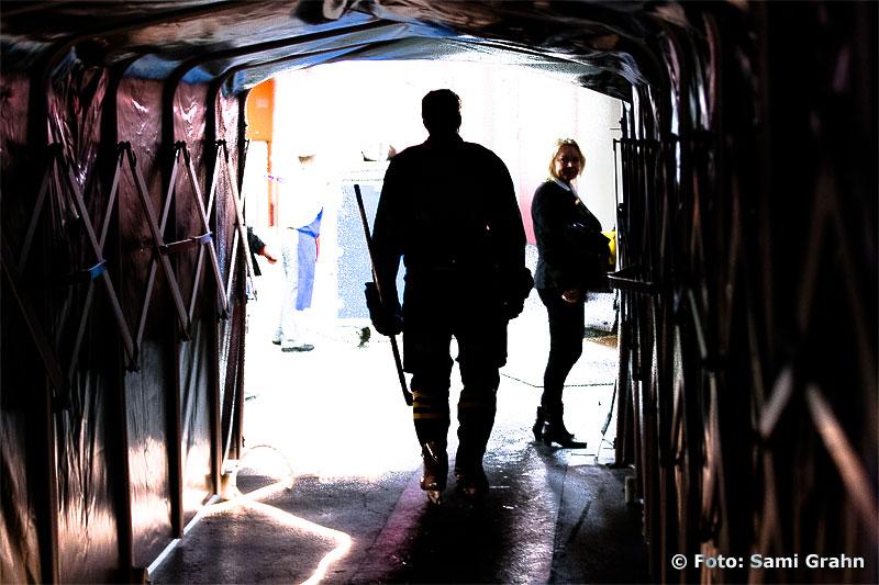 AIK 10 Richard Gynge i spelartunneln
