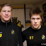 AIK 10 Richard Gynge och AIK 87 Robert Rosén