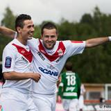 Assyriska 11 Admir Catovic jublar ikapp med målskytten 8 Fuad Hyseni