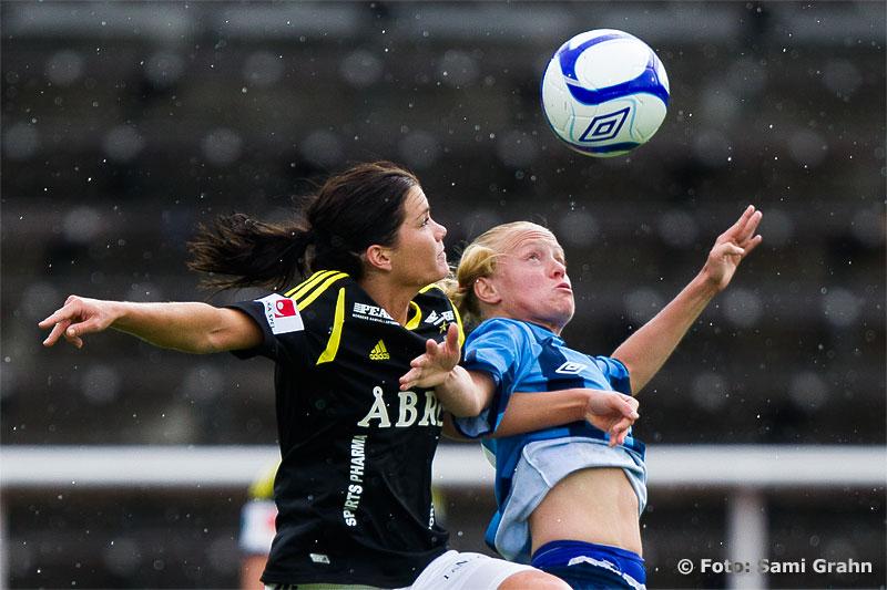 Djurgården 5 Magdalena Ericsson och AIK 17 Hanna Folkesson