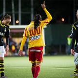 Tyresö 100 Marta Vieira da Silva gladdes för segern över AIK