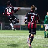 BP 10 Pablo Pinones Arce hoppar högt av glädje