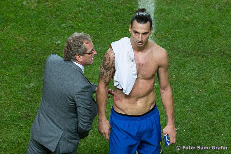 Erik Hamrén var nöjd med Zlatan Ibrahimovic