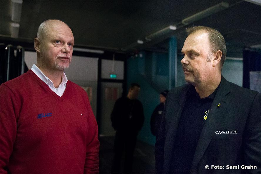 """Tränarna Roger Melin och Per-Erik """"Perra"""" Johnsson"""