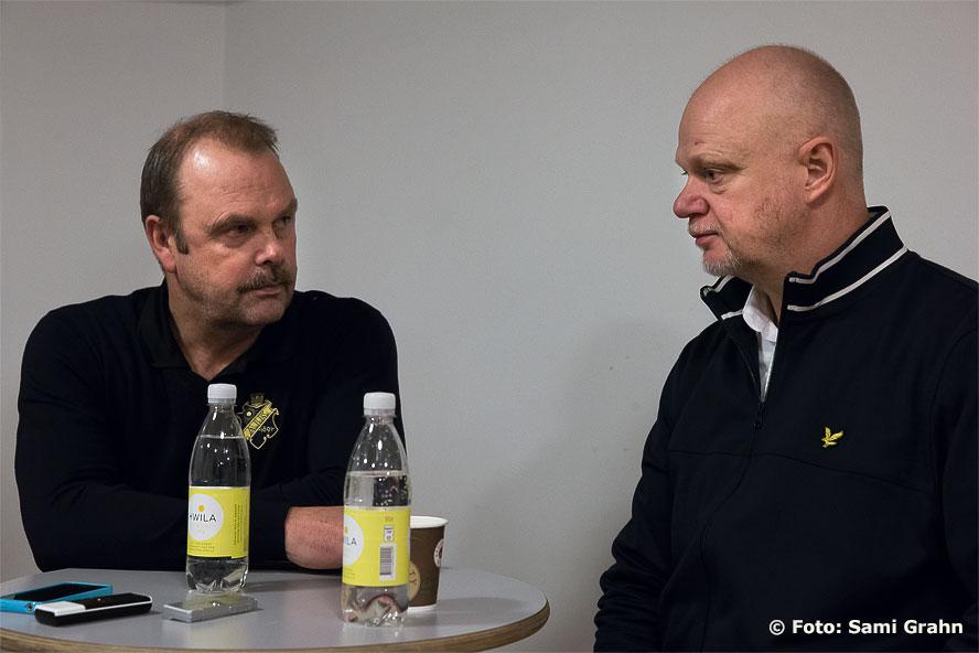 Perras allra sista presskonferens i AIK-tröja