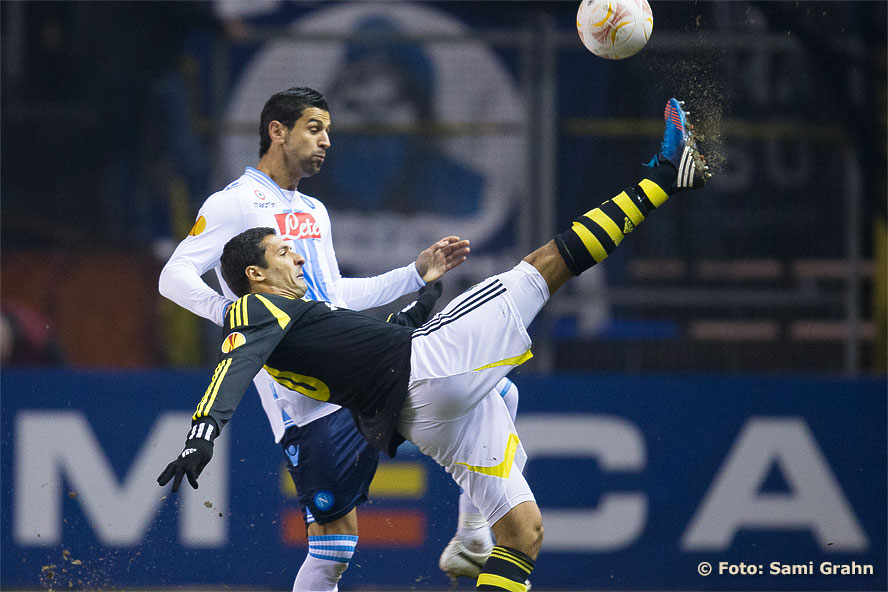 AIK 10 Celso Borges och Napoli 20 Blerim Dzemaili