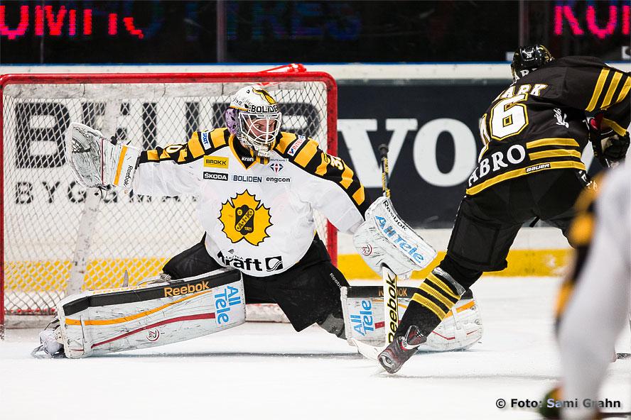 Tröstmål av AIK Mattias Janmark Nylén bakom Skellefteå Joacim Eriksson