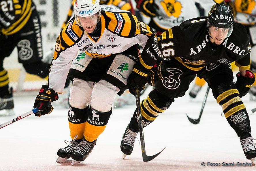 Skellefteå Pontus Petterström och AIK Tobias Viklund