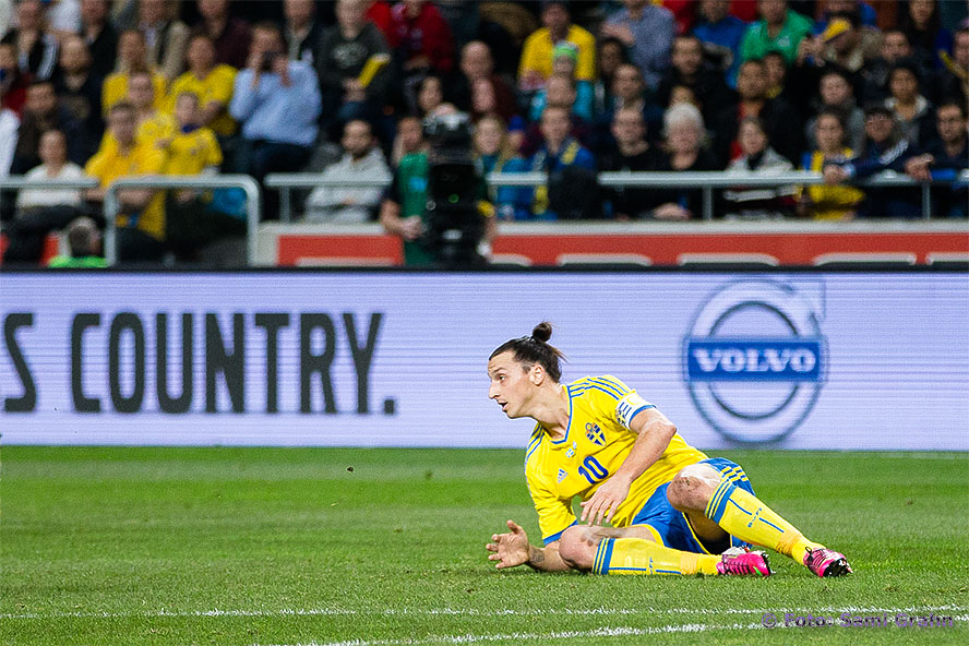Sveriges nr 10 Zlatan Ibrahimovic