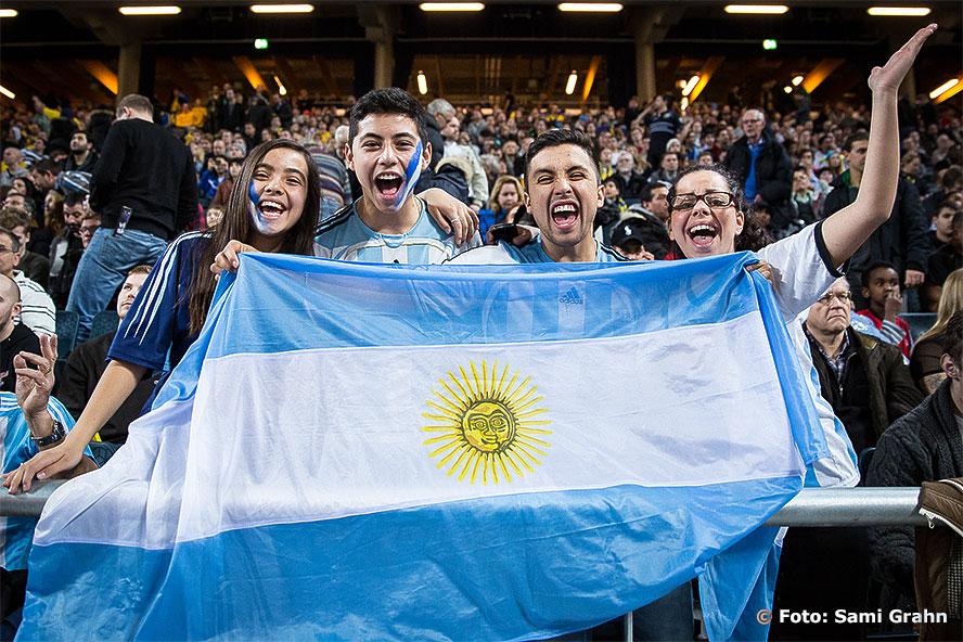 De argentiska supportrarna var gladast