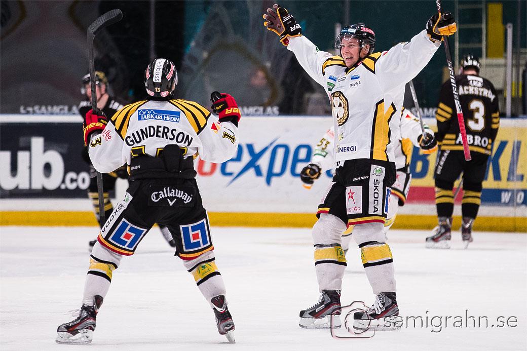 Brynäs 13 Ryan Gunderson satte matchens enda mål