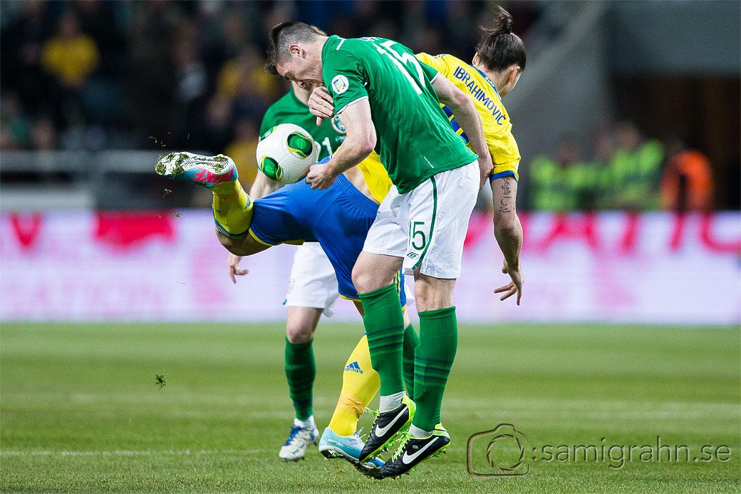 Sverige 10 Zlatan Ibrahimovic och Irland 15 Ciaran Clark