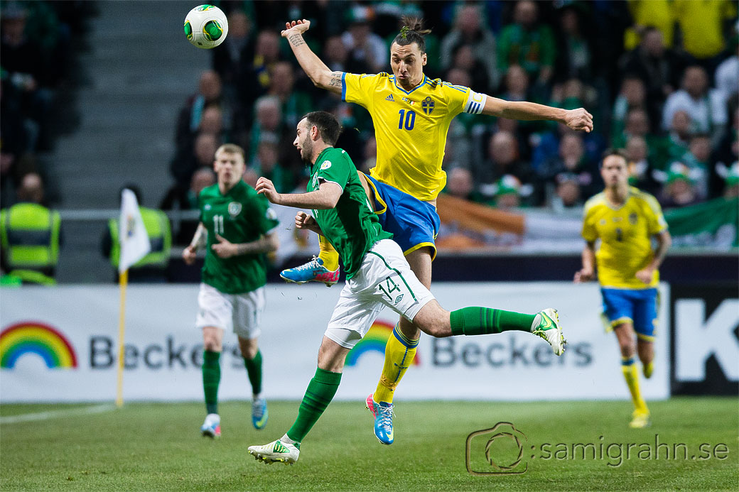 Sverige 10 Zlatan Ibrahimovic och Irland 14 Marc Wilson