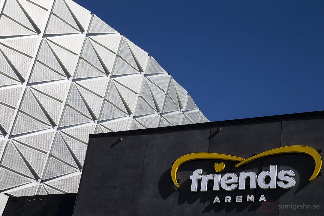 AIK tränar på Friends Arena