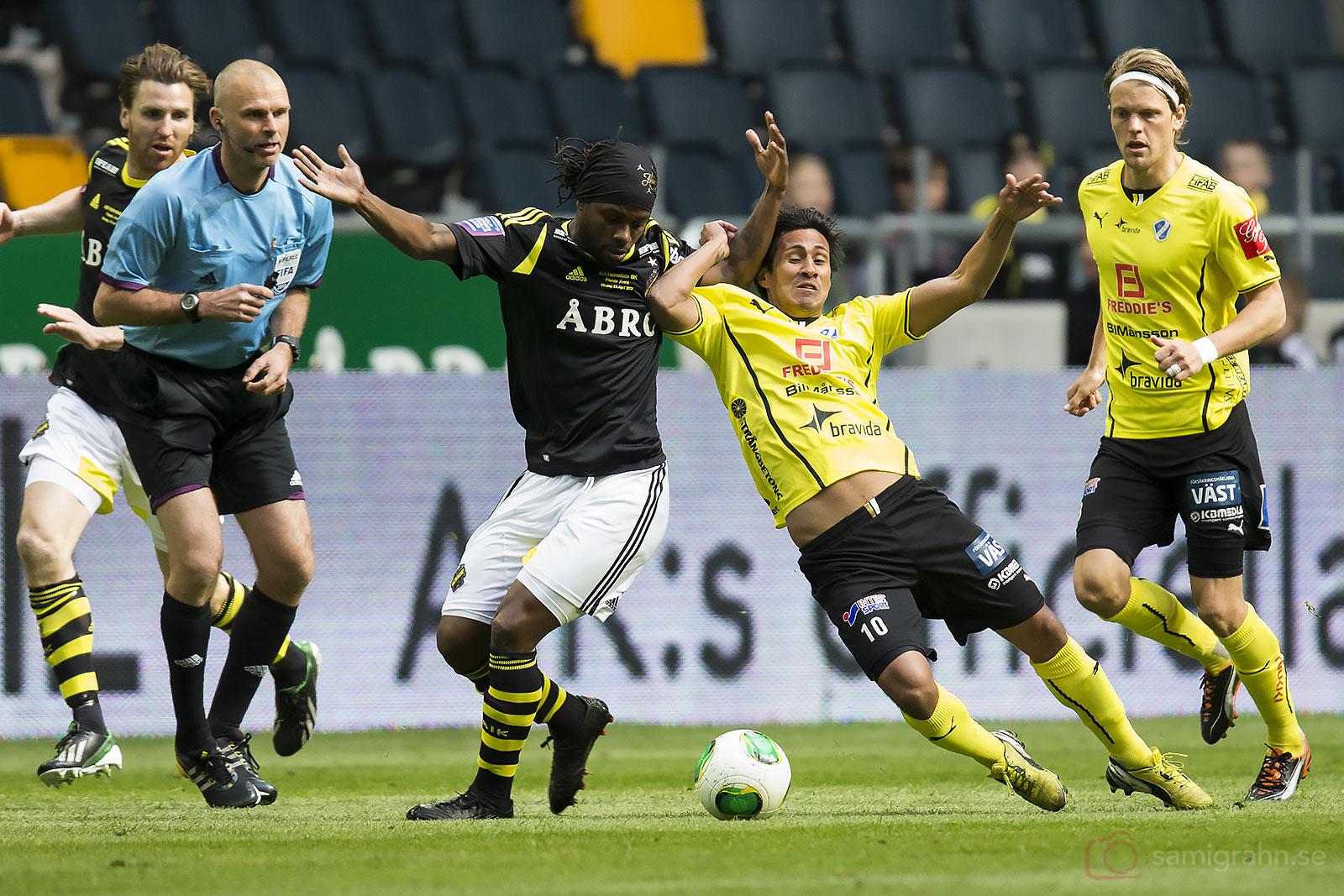 AIK Martin Mutumba och Halmstad Antonio Rojas