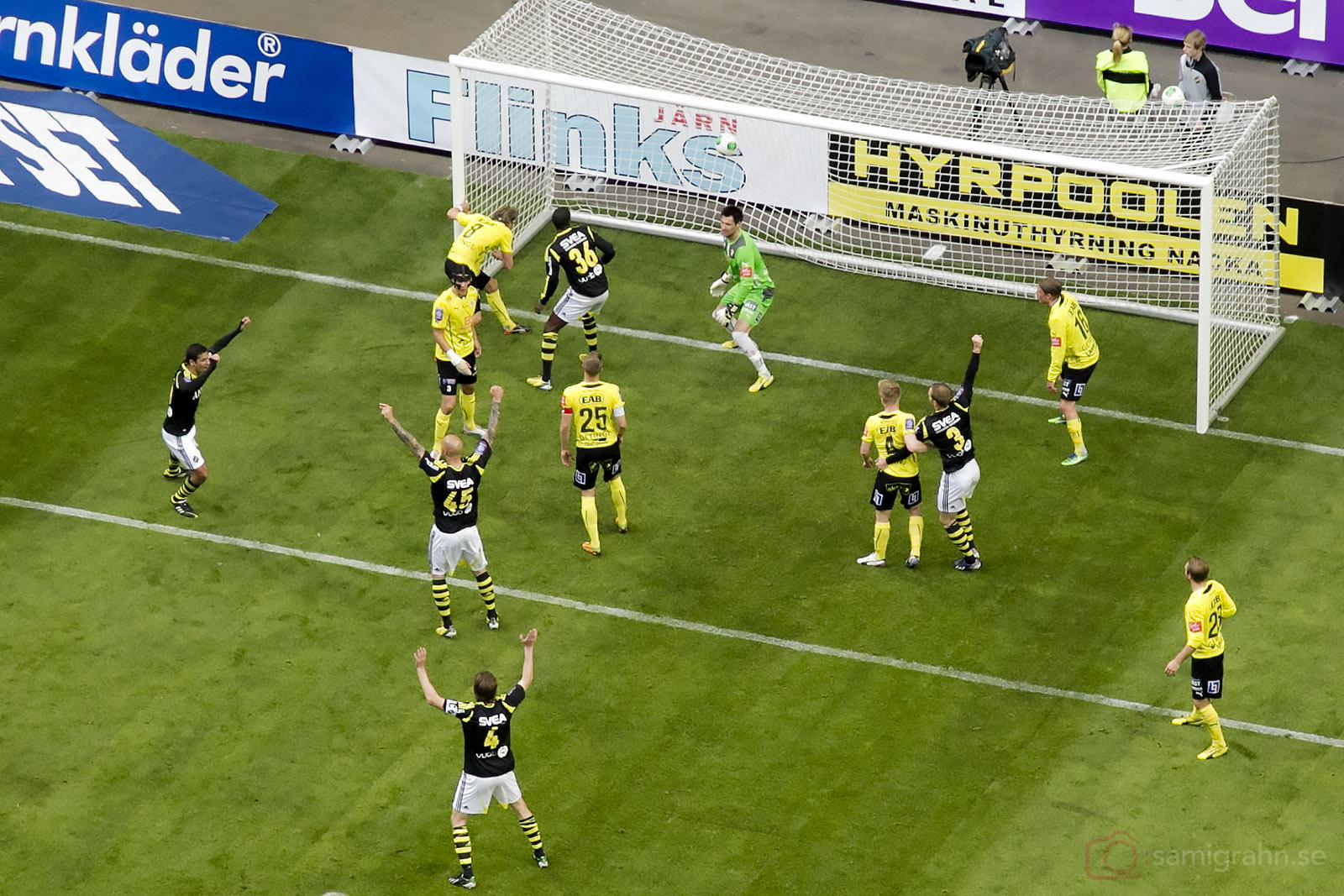 Jubel efter nickmål av AIK Daniel Majstorovic