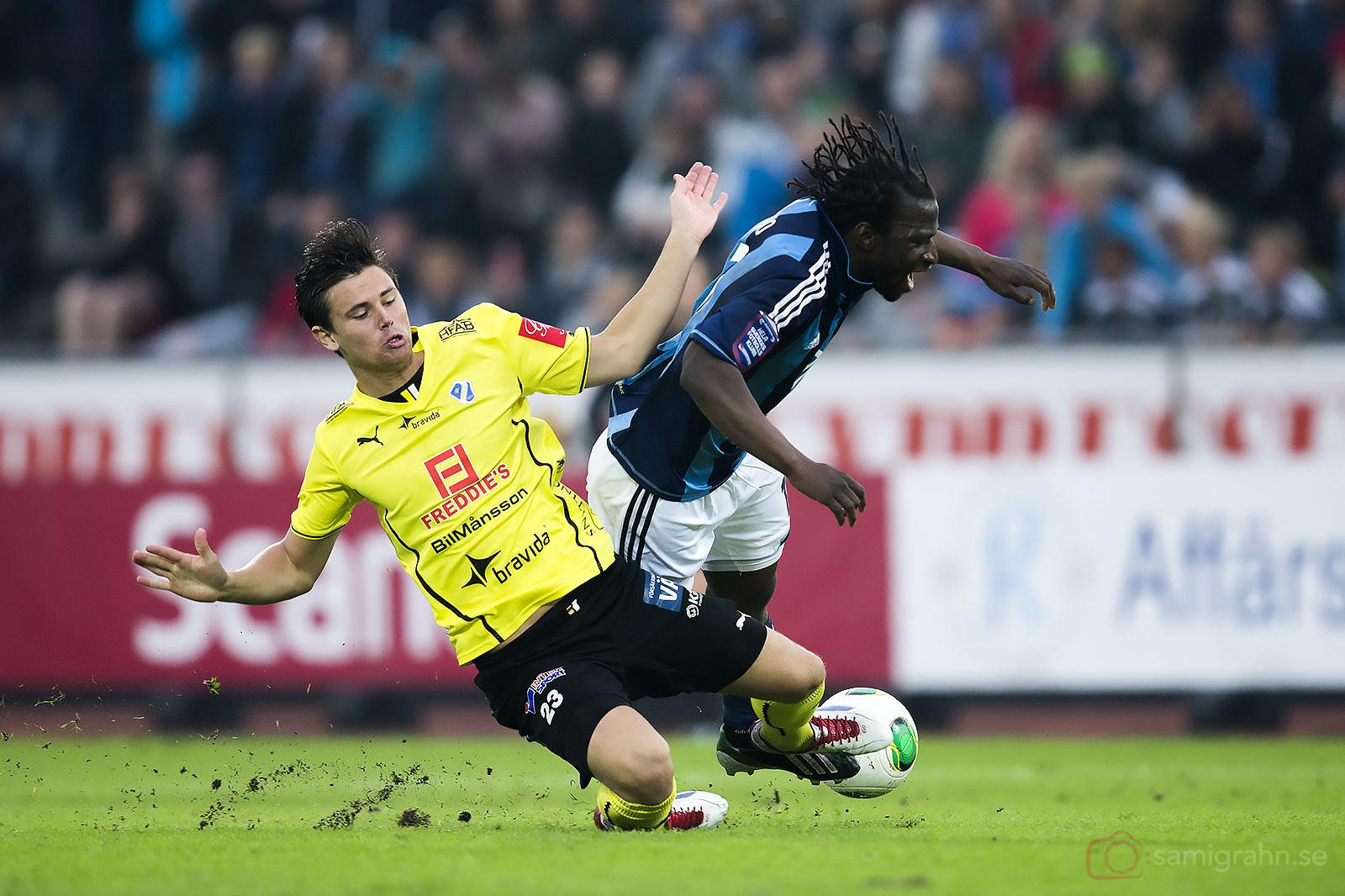 Halmstad Marcus Antonsson fäller Djurgården Amadou Jawo
