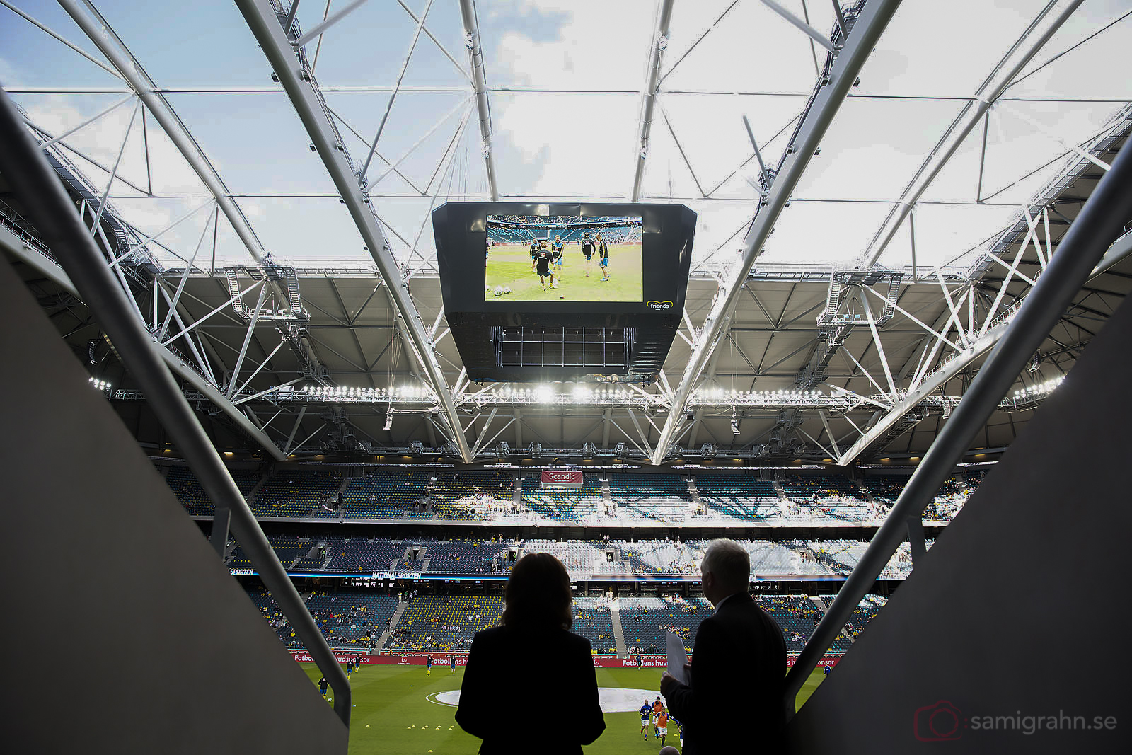 Fotboll ur ett fågelperspektiv