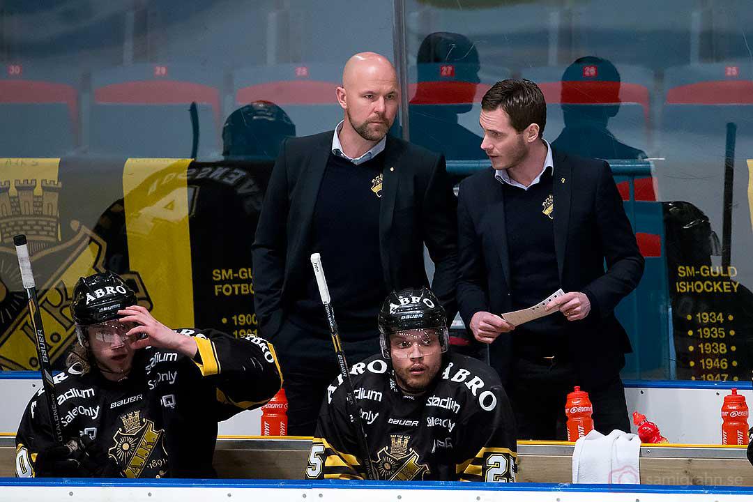 AIK tränare Mattias Norström och Daniel Rudslätt