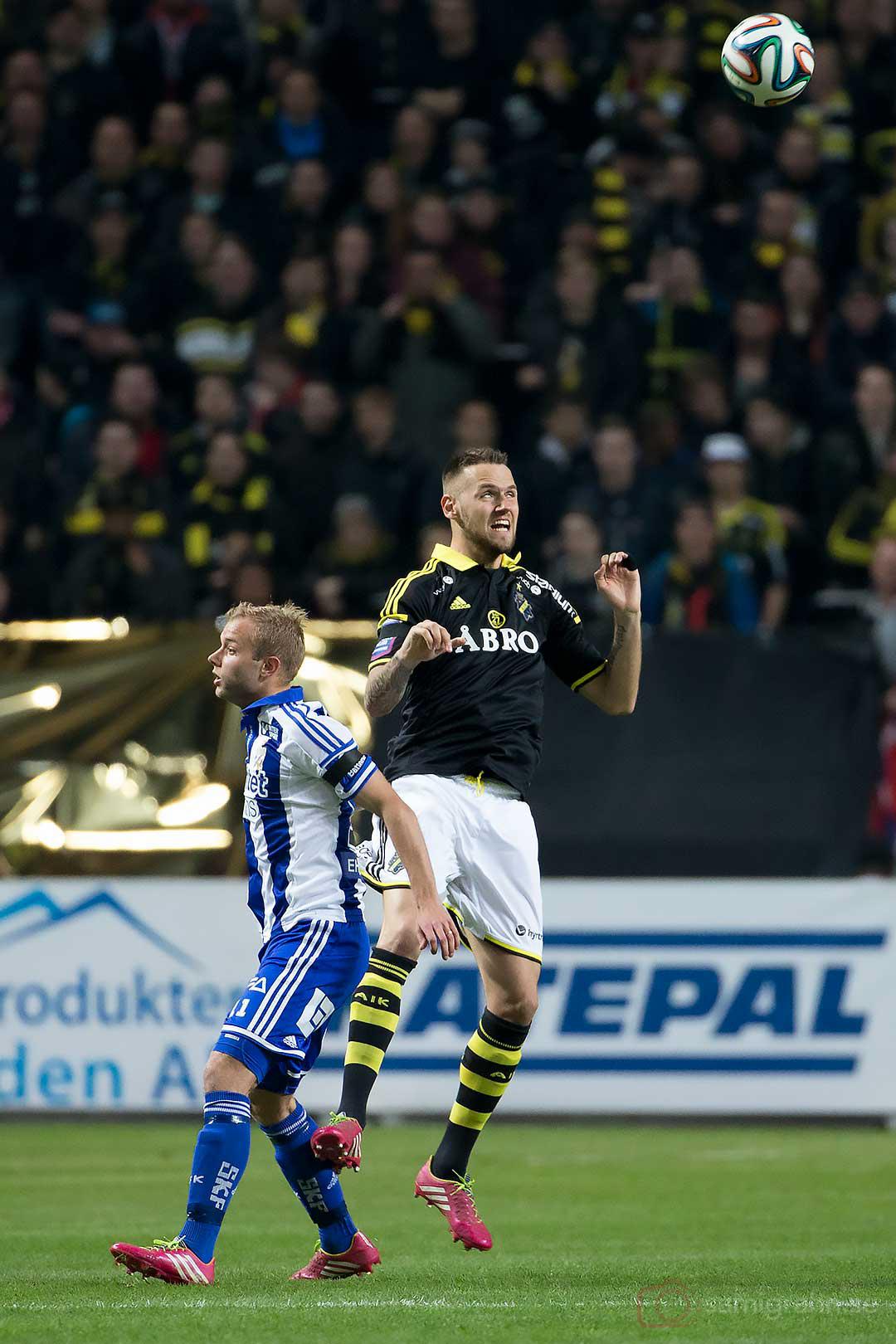 IFK Göteborg Robin Söder och AIK Alexander Milošević