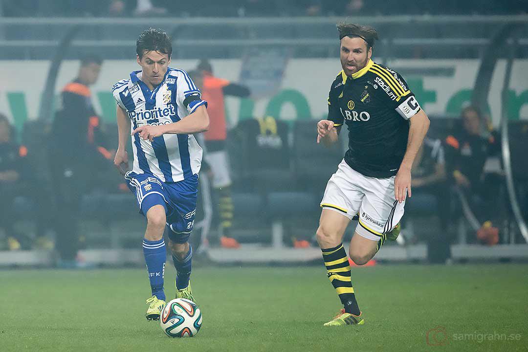 IFK Göteborg Lasse Vibe och AIK Nils-Eric Johansson