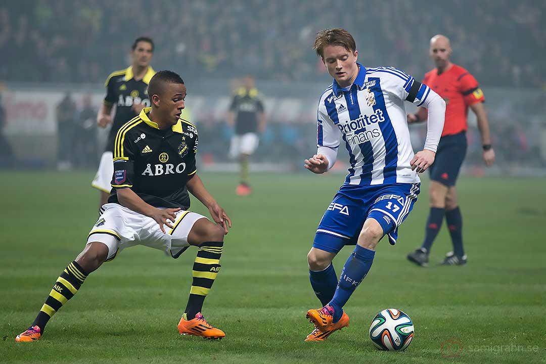 AIK Niclas Eliasson och IFK Göteborg Sam Larsson