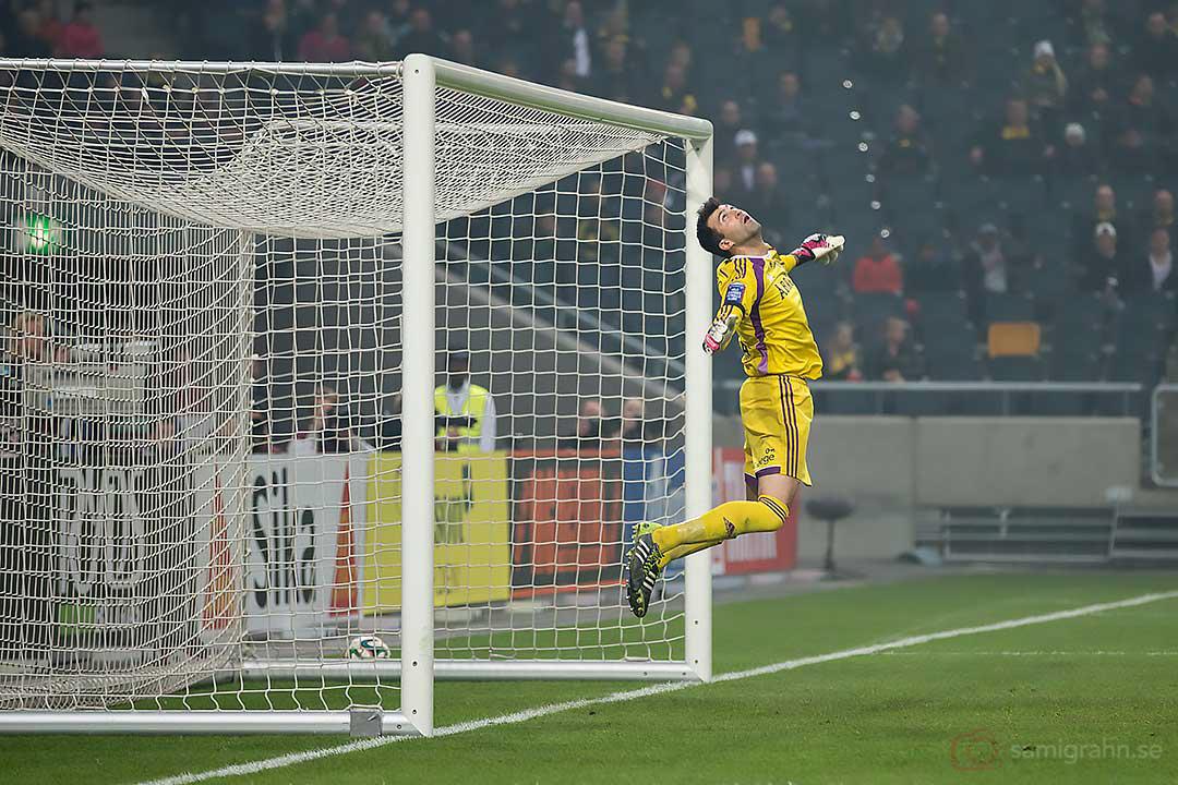 AIK målvakt Kyriakos Stamatopoulos