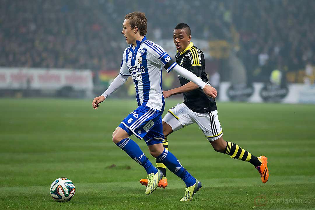 AIK Niclas Eliasson steget efter IFK Göteborg Ludwig Augustinsson
