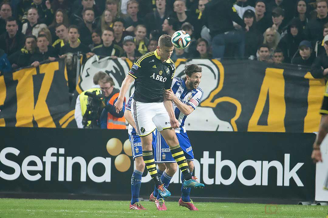AIK Eero Markkanen och IFK Göteborg Hampus Zackrisson