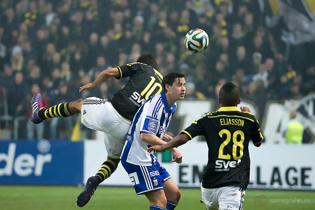 IFK Göteborg Philip Haglund mellan AIK Celso Borges och Niclas Eliasson