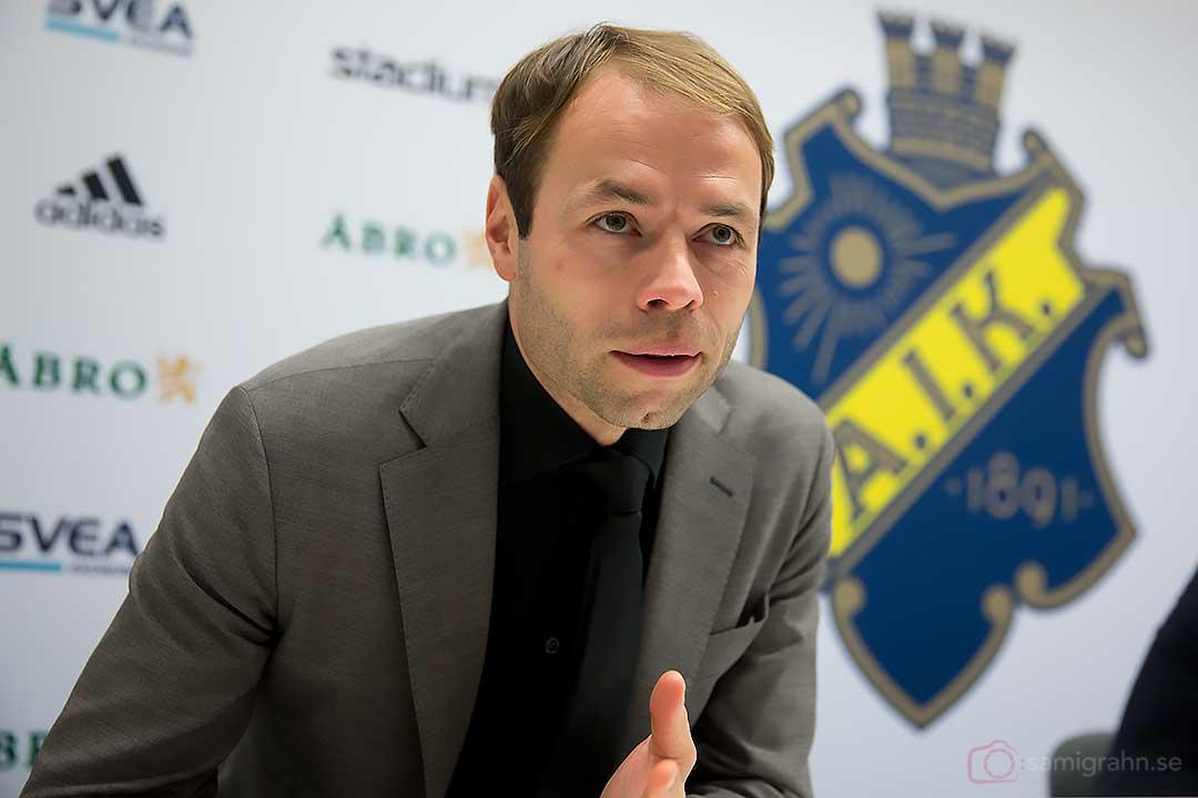 AIK tränare Andreas Alm