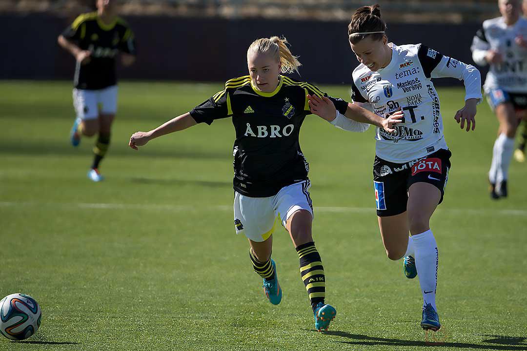 AIK Julia Molin och Sirius Julia Lyckberg