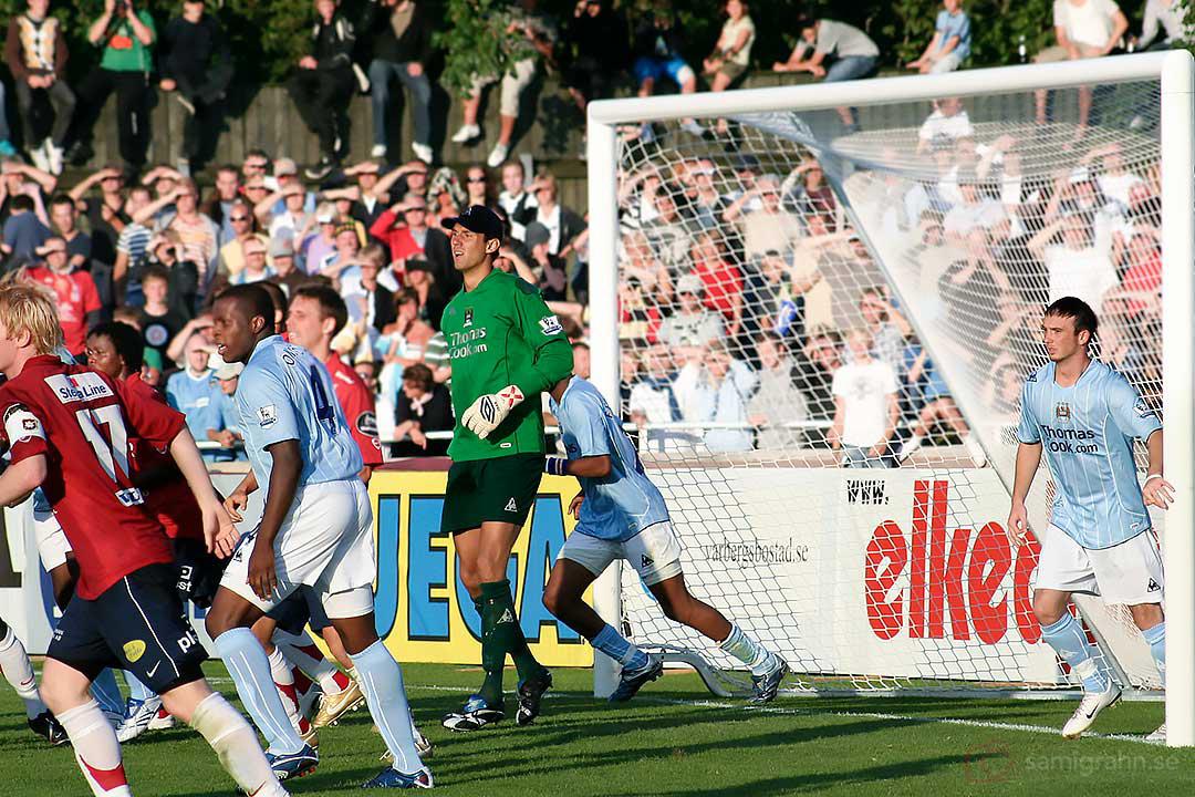 Manchester Citys målvakt Andreas Isaksson hade en lugn dag på jobbet