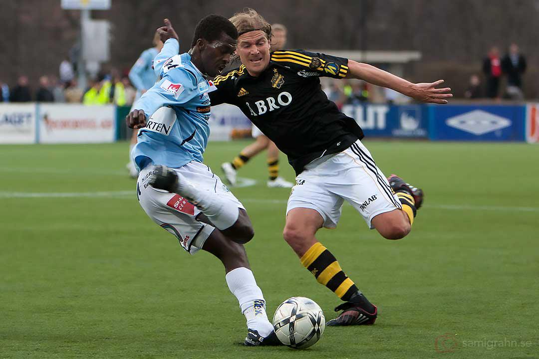 Gefle Yussif Chibsah och AIK Daniel Tjernström