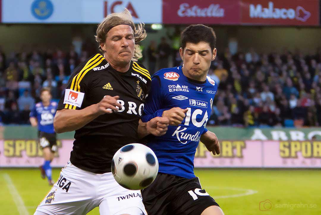 AIK Daniel Tjernström tränger sig fram