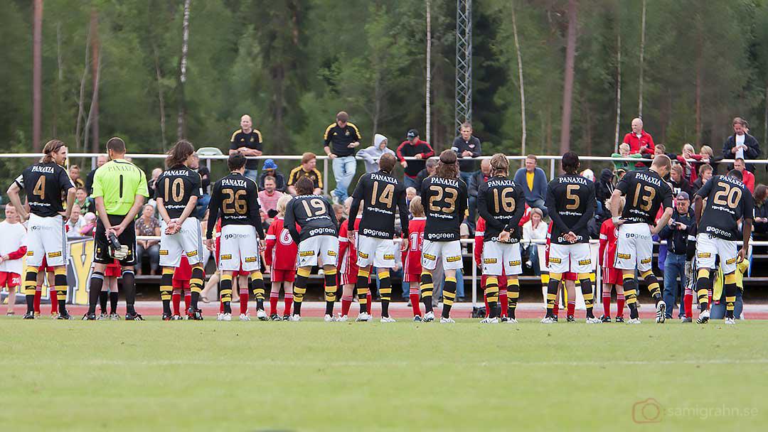 AIK:s uppställning inför matchen mot FF Jaro