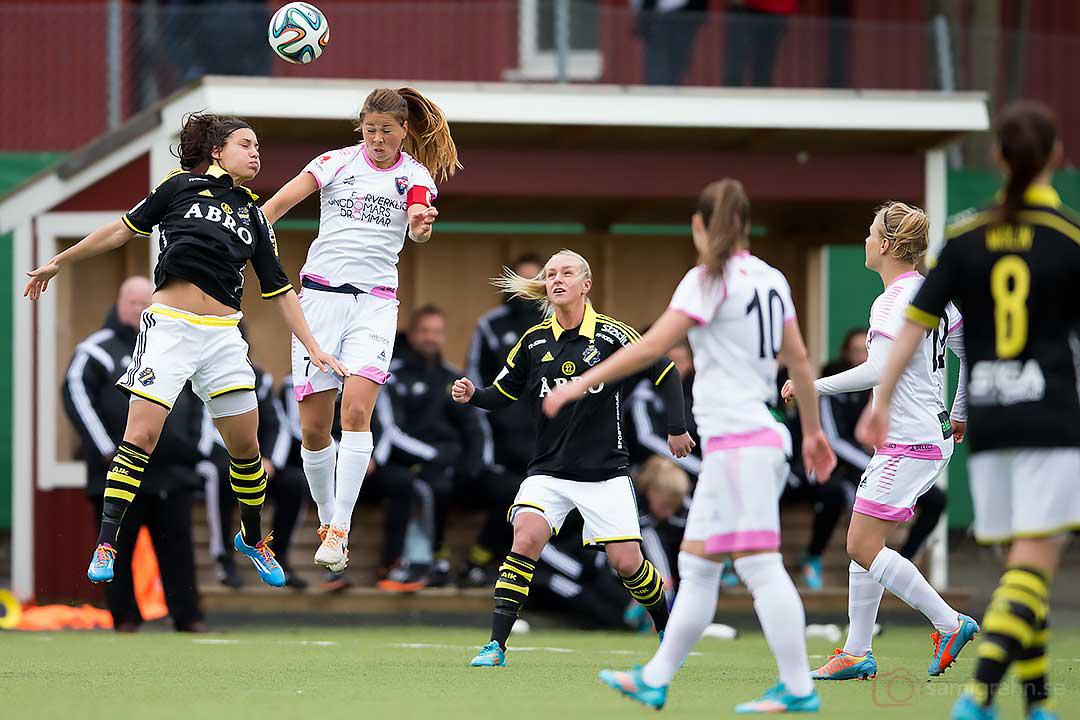 Nickduell AIK Petra Andersson och Rosengård Sarah Mellouk