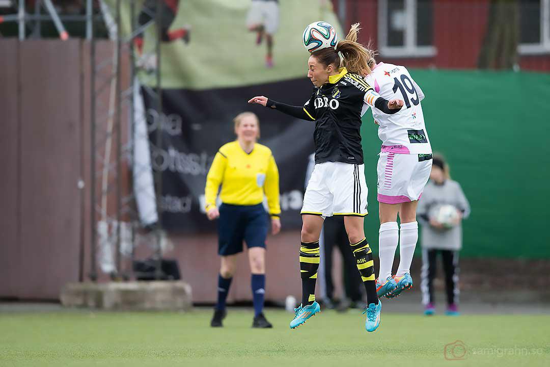 AIK Petra Andersson och Rosengård Katrin Schmidt