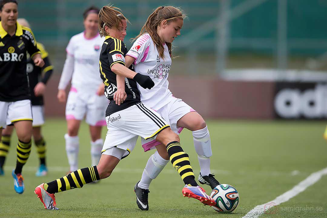 AIK Madeleine Tegström och Rosengård Sarah Mellouk