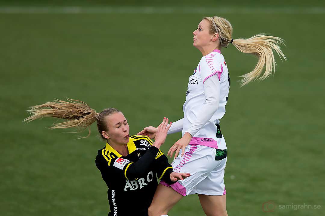 Lika långhåriga: AIK Elin Sjölander och Rosengård Amanda Ilestedt