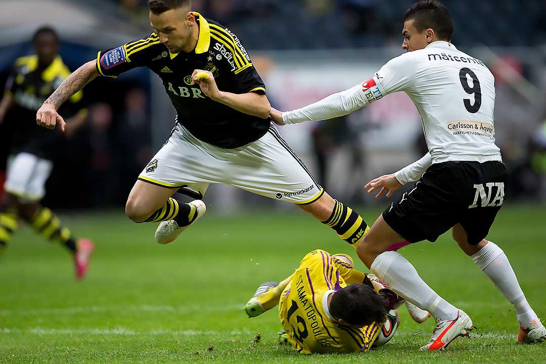 """AIK Kyriakos """"Kenny"""" Stamatopoulos under Alexander Milošević och Örebro Ahmed Yasin"""