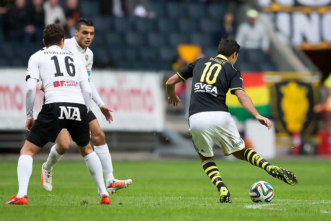 Örebro Shpetim Hasani,  Ahmed Yasin och AIK Celso Borges